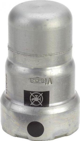 Viega Megapress Verschlusskappe DN 15 1/2'' Modell 4256, Stahl unlegiert, Zink-Nickel 694906 - Bild 1