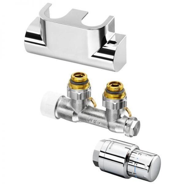 Oventrop Anschluss-Set für Badheizkörper Multiblock T/Uni SH 1/2'' Eckform verchromt 1184284 - Bild 1