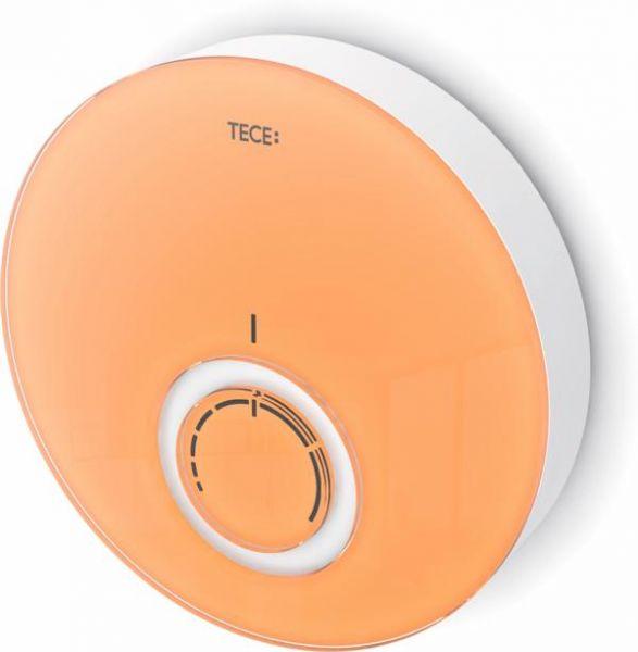 TECEfloor Designthermostat-Blende DT Glas orange, Gehäuse weiß 77400017 - Bild 1