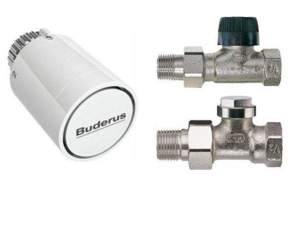Buderus Logatrend-C Zubehörpaket Durchgang, mit Thermostatkopf BH1-W0 M30x1,5mm und Nullstellung - Bild 1