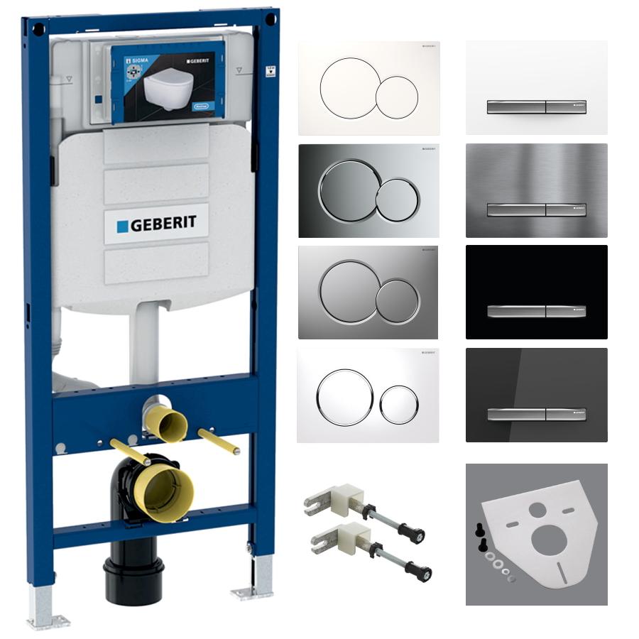 Bausatz GEBERIT Duofix UP320 Wand WC Montageelement Betätigungsplatte