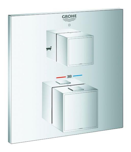 Grohe Thermostat-Wannenbatterie Grohtherm Cube 24155000 verchromt, für Rapido SmartBox - Bild 1