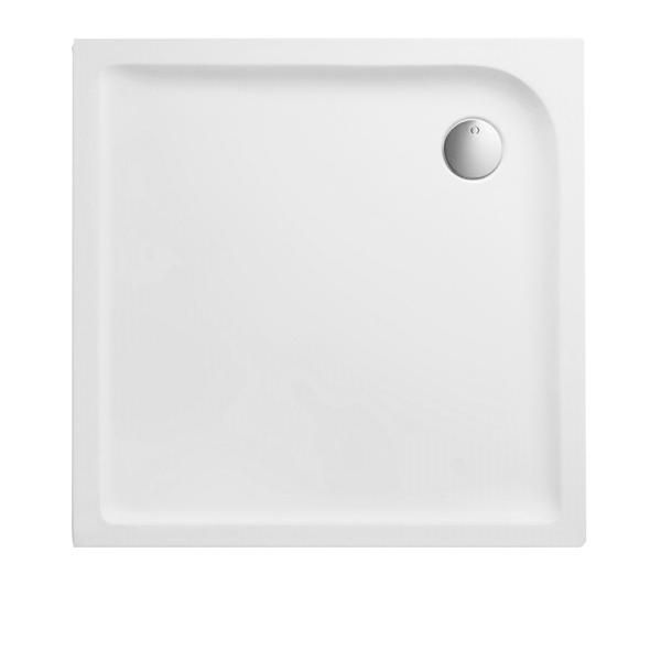 Duschwanne 90x90x3,5 cm quadratisch superflach aus Sanitär-Acryl weiß - Bild 1