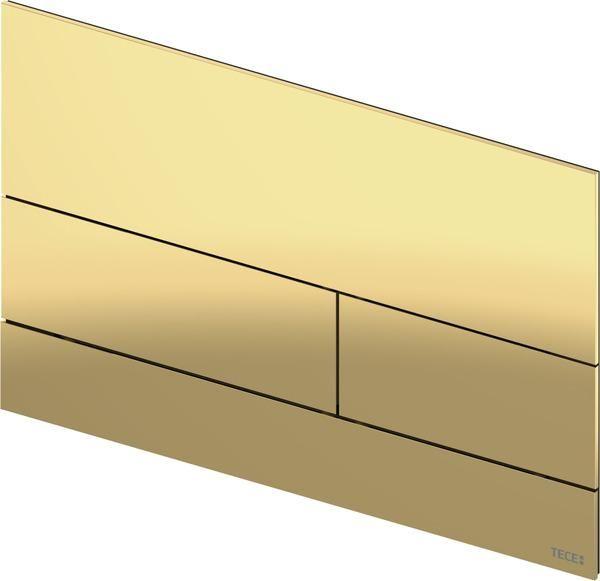 TECEsquare II Metall WC-Betätigungsplatte, Polished Gold Optic / Gold Optik glänzend 9240839 - Bild 1