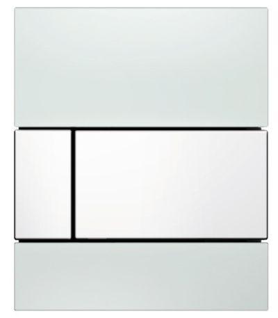 TECEsquare Glas Urinal-Betätigungsplatte weiss, Tasten weiss 9242800 - Bild 1