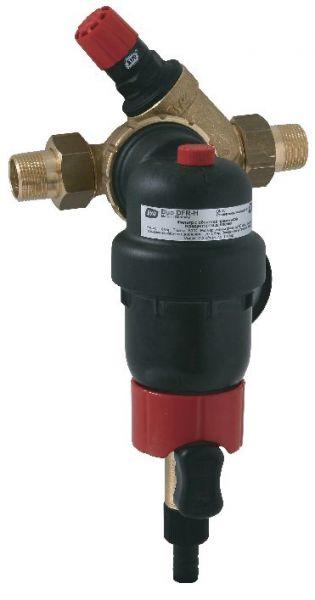 SYR Rückspülfilter DUO DFR HOT DN 20 R 3/4'' 80°C mit Druckminderer und Manometer 2314.20.004 - Bild 1