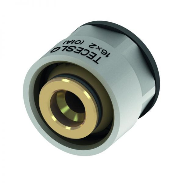 TECEfloor SLQ Klemmringverschraubung 16x2 mm 3/4'' Eurokonus für TECElogo, MDXc-, PE-Xc-, ISO-Rohre - Bild 1