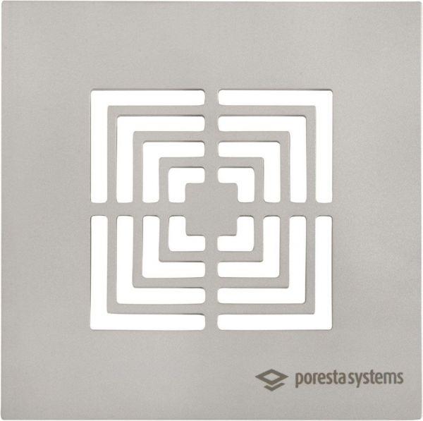 Poresta® Designroste Edelstahl BF Square 18.300.326, für Rostrahmen 18.300.321 - Bild 1