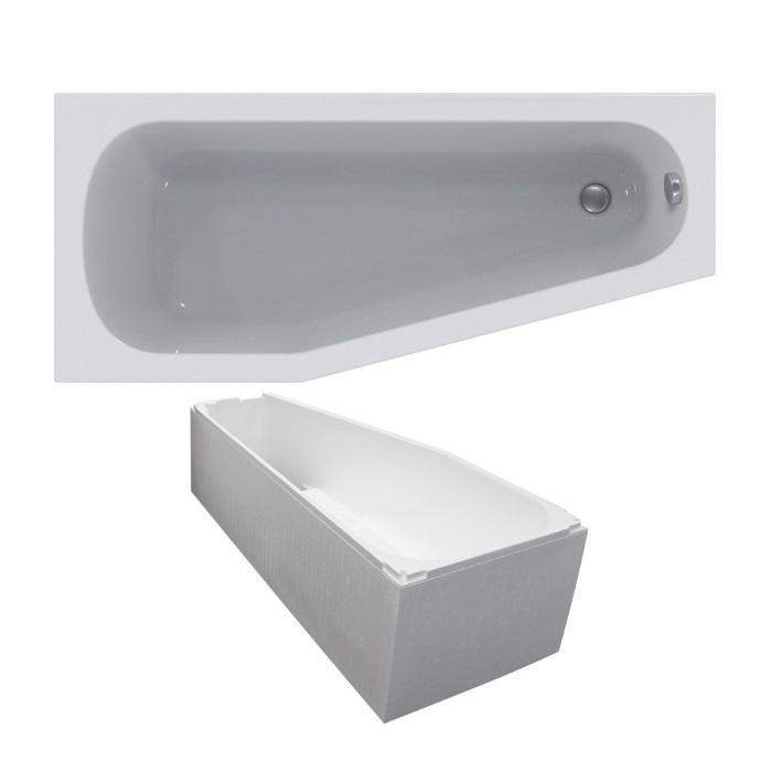 raumspar badewanne 160x70 45x46 5 cm links wei k276301 On raumspar badewanne 160x70