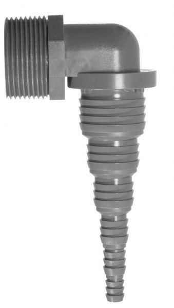 Airfit HT-Pumpenwinkel Universal 1 1/4'' AG x 32-8 mm PVC 90-Grad-Winkel 50018SW - Bild 1
