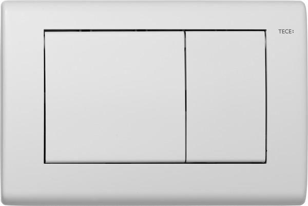 TECEplanus WC-Betätigungsplatte für Zweimengentechnik weiß matt 9240322 - Bild 1