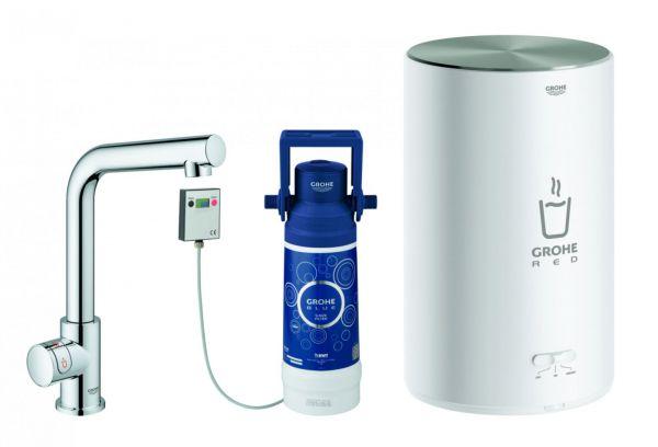 GROHE Red Mono Standventil Küchenarmatur und Boiler M-Size L-Auslauf chrom 30339001 - Bild 1