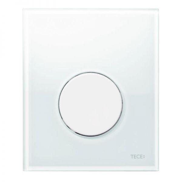 TECEloop Urinal-Betätigungsplatte Glas weiß, Taste weiß, inklusive Kartusche 9.242.650 - Bild 1