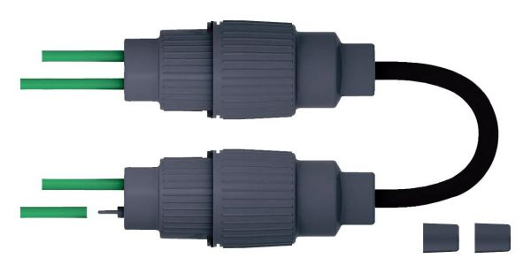 bamaheat Heizband-Abzweig DuoClip-T für 3-4 Heizbänder incl. 2 Endabschlüssen 8000-10.62 - Bild 1