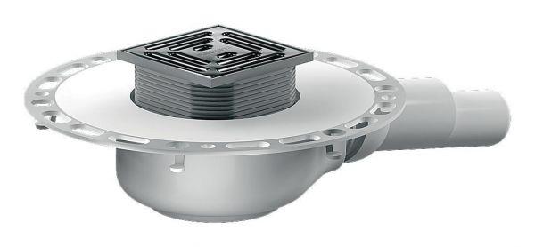 Bodenablauf TistoPlan K10 DN 40/50 BH 78mm Edelstahl-Rost 95x95mm Kl. K3 - Bild 1