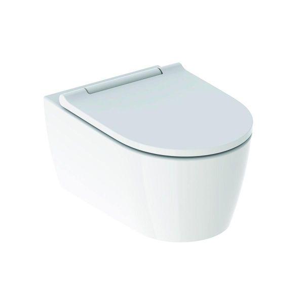Wand-Tiefspül-WC ONE Turbo Flush mit WC-Sitz weiß/weiß, KeraTect 500201011 - Bild 1