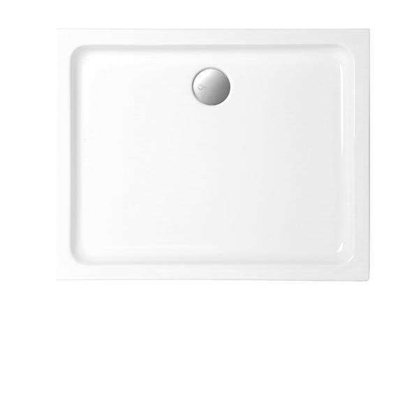 Duschwanne 100x80x6,5 cm rechteckig extraflach aus Sanitär-Acryl weiß - Bild 1