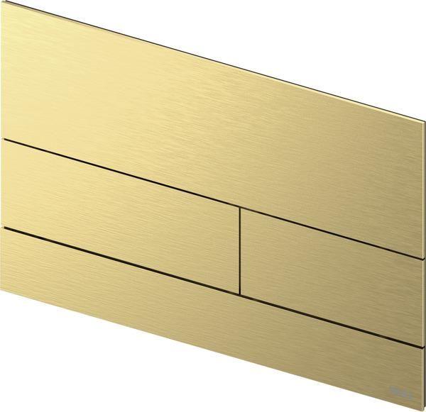 TECEsquare II Metall WC-Betätigungsplatte, Brushed Gold Optic / Gold Optik gebürstet 9240838 - Bild 1