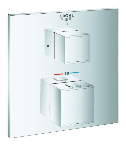 Grohe Thermostat-Brausebatterie Grohtherm Cube 24153000 verchromt, für Rapido SmartBox - Bild 1