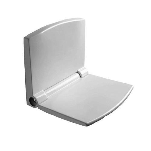 wuh24 Duschsitz mit Montageplatte, antibakteriell beschichtet weiß inklusive Befestigungsmaterial - Bild 1
