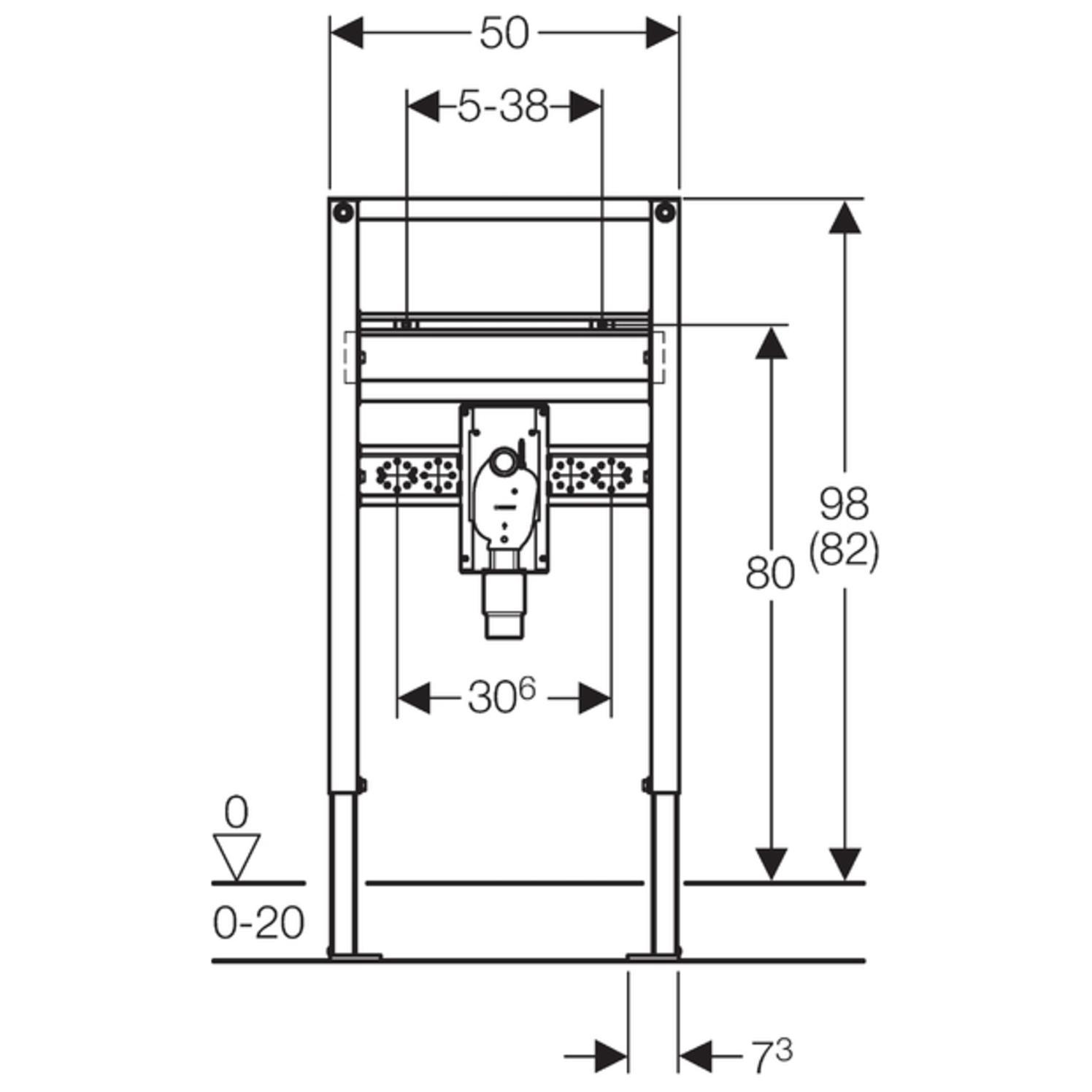 geberit duofix waschtisch element bh 820 980 mm mit up geruchsverschluss barrierefrei. Black Bedroom Furniture Sets. Home Design Ideas