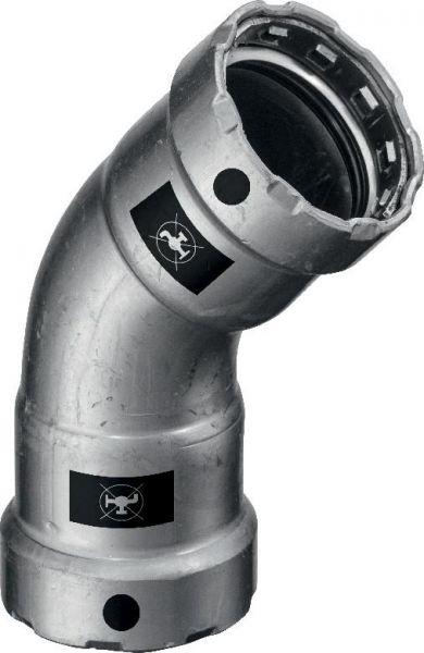 Viega Megapress Bogen 45 Grad DN 32 1 1/4'' Modell 4226, Stahl unlegiert, Zink-Nickel 694609 - Bild 1